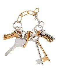 Balenciaga - Metallic Gold & Silver Multiple Key Bracelet - Lyst