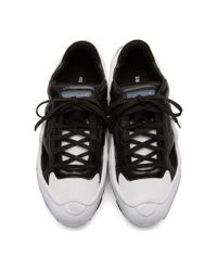 Raf Simons - Black And White Adidas Originals Edition Ozweego Replicant Sneakers for Men - Lyst