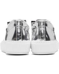 Acne - Silver Metallic Adriana Sneakers - Lyst