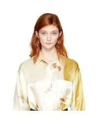 Lemaire - Metallic Gold Short Drop Earrings - Lyst