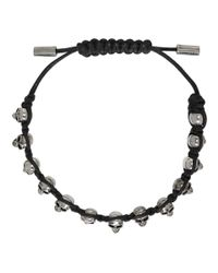 Alexander McQueen - Black Skull Friendship Bracelet for Men - Lyst