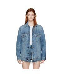Alexander Wang | Blue Denim Daze Jacket | Lyst