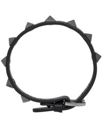 Valentino - Black Rockstud Bracelet for Men - Lyst