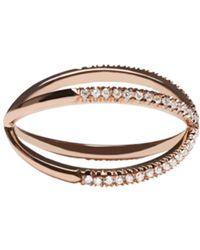 Eva Fehren - Pink Rose Gold Diamond Shorty Ring - Lyst