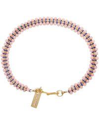Isabel Marant - Pink Beaded Aston Bracelet - Lyst
