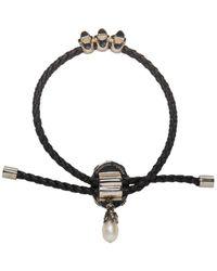 Alexander McQueen - Black Stone Friendship Bracelet - Lyst