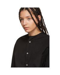 Y's Yohji Yamamoto - Black Collarless Shirt - Lyst