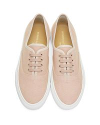 Common Projects - Pink Canvas Tournament Four Hole Sneakers - Lyst