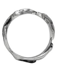 Maison Margiela | Metallic Silver Graphic Ring for Men | Lyst