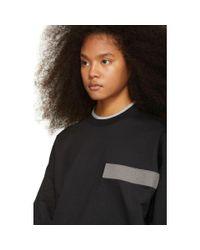 Gosha Rubchinskiy - Black And Grey Double Sleeve Flag Sweatshirt - Lyst