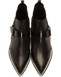 Nicholas Kirkwood | Black Leather Pointed Ankle Boots | Lyst