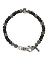 Emanuele Bicocchi - Black And Silver Beaded Bracelet - Lyst