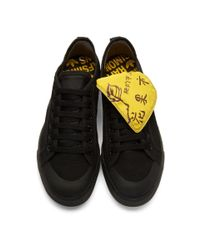 Raf Simons Black And Yellow Adidas Originals Edition Spirit Low Sneakers for men