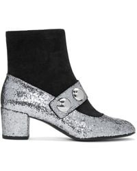 Marc Jacobs | Metallic Silver Margaux Cabochon Boots | Lyst