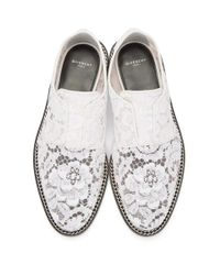 Givenchy - White Lace Loafers - Lyst