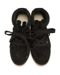 Isabel Marant - Black Bobby Wedge Sneakers - Lyst
