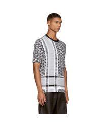 McQ Alexander McQueen - Black & White Knit Razor T-shirt for Men - Lyst