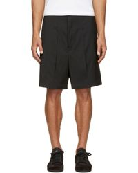 Thamanyah - Black Vented Panel Shorts for Men - Lyst