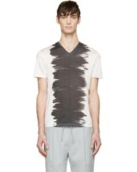 Calvin Klein - Gray White & Black Watercolour T-shirt for Men - Lyst