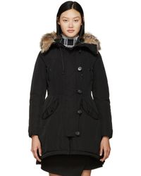 Moncler | Black Down Ariette Coat | Lyst