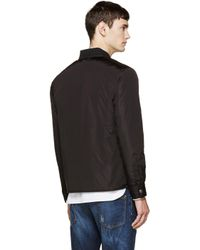 DSquared² - Black Puffer Shirt Jacket for Men - Lyst