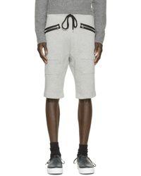 Markus Lupfer | Gray Grey Zipper Lounge Shorts for Men | Lyst