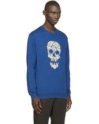 Markus Lupfer - Blue Skull Jason Sweater for Men - Lyst
