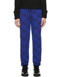 KENZO | Black & Blue Love Lounge Pants for Men | Lyst