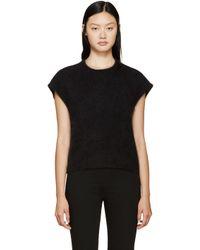 Giambattista Valli | Black Sleeveless Angora Sweater | Lyst