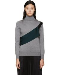 Toga | Gray Grey Knit Turtleneck | Lyst