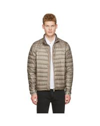 Moncler - Gray Grey Down Daniel Jacket for Men - Lyst