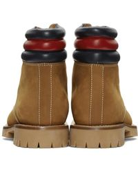 Gucci | Brown Tan Suede Boots for Men | Lyst