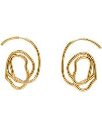 Ellery | Metallic Gold Memphis Earrings | Lyst