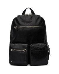 Valentino Black Leather Backpack for men