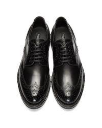 Dolce & Gabbana - Black Studded Brogues - Lyst