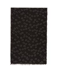 Ann Demeulemeester - Black Cashmere Circles Print Scarf for Men - Lyst
