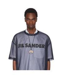 Jil Sander - Metallic Silver And Beige Essential Necklace for Men - Lyst