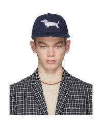 Thom Browne - Blue Navy Hector Cap for Men - Lyst