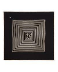 Totême  - Black Venezia Silk Scarf - Lyst