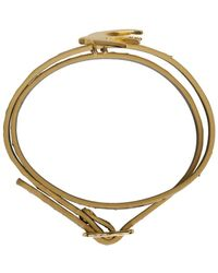 McQ - Metallic Gold Swallow Mini Wrap Bracelet - Lyst