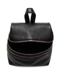 Kara - Black Small Double Zip Backpack - Lyst