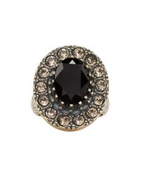 Alexander McQueen - Metallic Gold And Black Jewelled Ring for Men - Lyst