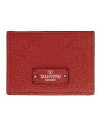 Valentino - Red Garavani Logo Patch Card Holder for Men - Lyst