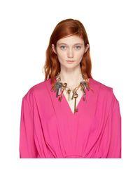 Balenciaga   Metallic Gold And Silver Multi-key Necklace   Lyst