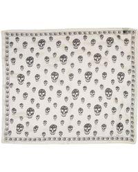 Alexander McQueen - White Ivory Silk Skull Scarf - Lyst