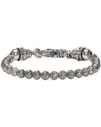 Emanuele Bicocchi - Metallic Silver Beaded Bracelet for Men - Lyst