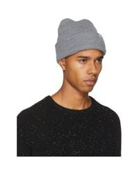 Aimé Leon Dore - Gray Grey Waffle Stitch Beanie for Men - Lyst