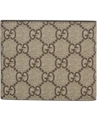 Gucci - Natural Beige Angry Cat Gg Supreme Wallet - Lyst