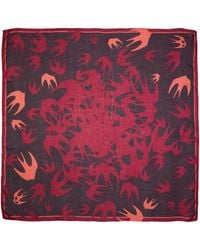 McQ Alexander McQueen | Purple & Pink Swallow Swarm Scarf | Lyst