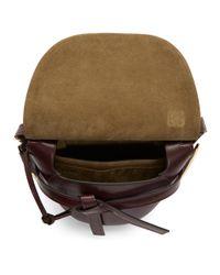 Loewe - Multicolor Burgundy Small Gate Frame Bag - Lyst